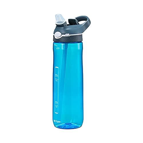 Bottiglia d'Acqua-Prova Perdite - Borraccia Sportiva per Fitness, Gym, Ciclismo, Palestra, Outdoor, Bambini, Scuola -Sky Blue 750ml._500ml-1000ml.