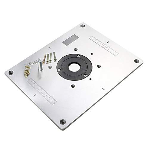 TMIL 300 × 235 × 9.5MM Placa De Inserción De Mesa De Enrutador De Aleación De Aluminio con Anillo De Inserción E Tornillos De Instalación para La Máquina De Corte De Carpintería DIY