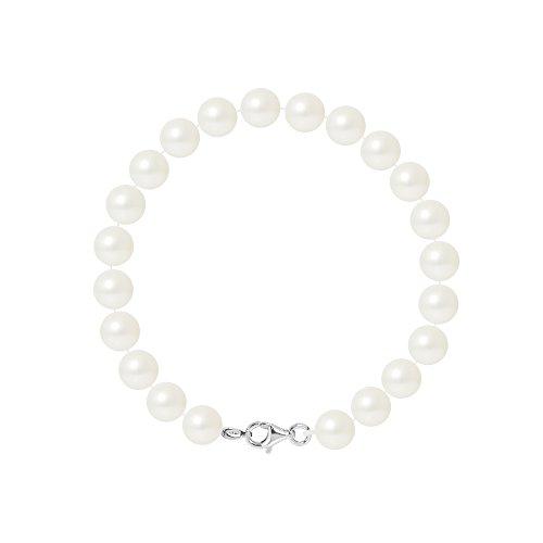 Pearls & Colors Bracciale intrecciato - AM17-BRA-AG-R78-M-WH
