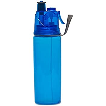 PRILAN Ice Cold Spray Mist and Sip Squeeze Sports Water Bottle,500ML Mist Lock Design,Double Wall Insulated for Cold Water,FDA Approved BPA-Free for Outdoor Cycling Camping Running Five Color
