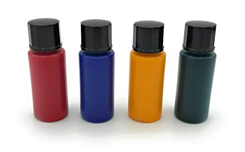 BELI-BECO FL-4 Glühlampen-Tauchlack - 1 Set - 4 Farben je 10ml : Rot, Blau, Gelb, Grün