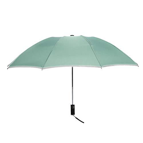 ASDMRQ paraguas, paraguas automáticos a prueba de viento, paraguas de rayas reflectantes para hombres y mujeres, parasoles portátiles, paraguas de viaje al aire libre