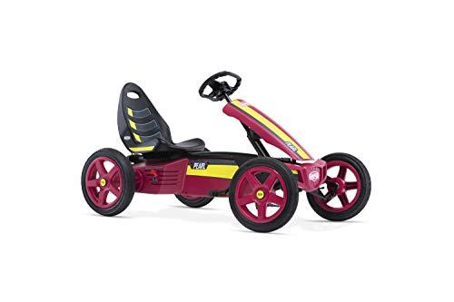 BERG Gokart Rally Pearl | Kinderfahrzeug, Tretauto mit verstellbarer Sitz, Mit Feilauf, Kinderspielzeug geeignet für Kinder im Alter von 4-12 Jahren