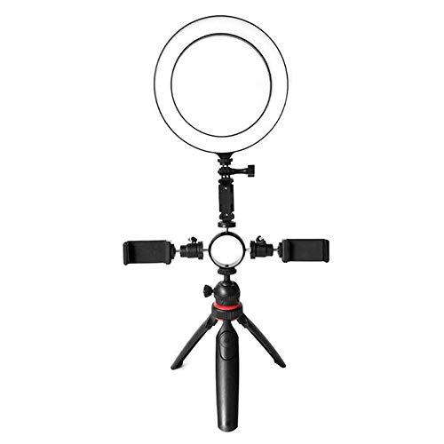 6 inch Selfie Light, Ring Licht met Standaard, Selfie Ring Licht, Schoonheid Camera HD foto Brede Hoek Lens Video Compatibel met telefoon, Tablet, voor Video, Foto, Make-up
