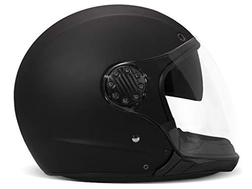 DMD A.S.R. Matt Black Motorrad Helm, XS