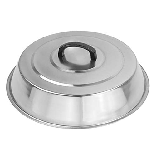 ZBXFCSH Griddle Accessories 12 Inch Round Stainless Steel Basting Griddle Cover - Cheese Melting Dome and Steaming Cover, Best for Use in Flat Top Griddle Grill Cooking Indoor or Outdoor