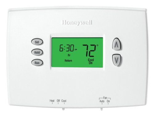 Honeywell TH2210DH1000 Horizontal PRO 2000 5+2 Day Programmable Heat Pump Thermostat - Backlit, 2H/1C, Dual Powered