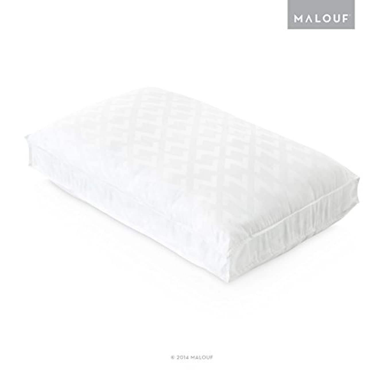 Z Convolution Pillow - Gel-Infused Dough Memory Foam Core with Gelled Microfiber Fill - 3 Levels of Support - 3-Year Warranty - Queen - Low Loft