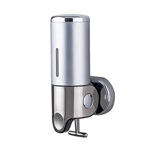 Seifenspender zur Wandbefestigung Doppelter Seifenspender für an die Wand Edelstahl Küche Badezimmer Shampoo Duschgel(500ml)