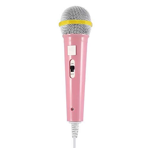 Kinder Kinder Mikrofon Musik Video Storytelling Party Mikrofon für Kinder Karaoke-Mikrofon für Kinder magische Kinder Spielzeug Mikrofon Geschenk für Kinder Kinder musikalische Spielzeug(Rosa)