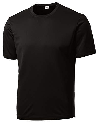 Opna Men's Big & Tall Short Sleeve Moisture Wicking Athletic T-Shirts Regular Sizes & XLT's Black