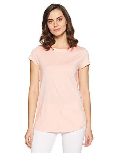 Van Heusen Athleisure Ultra Soft Cotton Modal Long Tee(55403_Peach Plum_S)