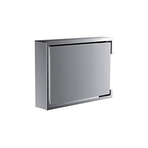 Emco Liaison Toilettenpapierhalter, chrom, Klopapierhalter, mit Deckel, Rollenhalter, Wandmontage – 180000100