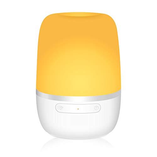 Luce Notturna di Ambiente Wifi Intelligente Dimmerabile Lampada Multicolori, Funzione Timer, App Controllo Remoto, Compatibile con Amazon Alexa, Google Home e IFTTT, Non Hub Richiesto, Meross MSL420