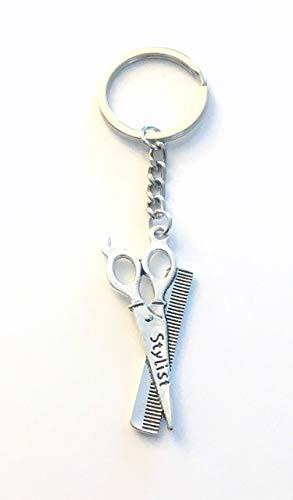 SALE - Hairdresser Keychain, Stylist Hair Salon Scissors Keyring, Birthday Gift for Hairstylist, Daughter, Boyfriend, Girlfriend, Wife Key Chain, Best Friend, Husband, Fathers Mother's Day Present
