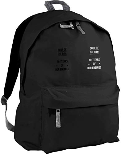 HippoWarehouse Soup of The Day The Tears of Our Enemies Backpack ruck Sack Dimensions: 31 x 42 x 21 cm Capacity: 18 litres