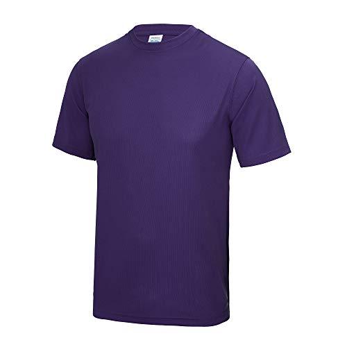 Just Cool - Camiseta de Deportes Transpirable Unisex Modelo Neoteric para Niños Niñas - Deportes/Gimnasia/Correr (9-11 Años/Púrpura)