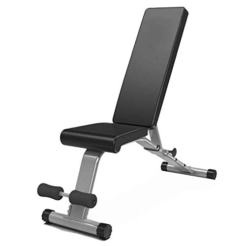 YPSMLYY Multifunktionale Home Fitness Stuhl Faltbare Einstellbare Sit-up Bord Hantelbank Hantelbank Platzsparende Last 300 KG (Farbe: Schwarz Größe: 113 * 46 * 132 cm)