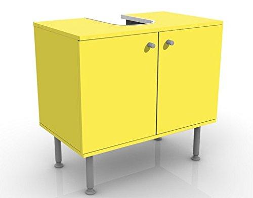 Apalis Waschbeckenunterschrank Colour Lemon Yellow 60x55x35cm Badezimmer Farbe Pop Art, Größe:55cm x 60cm