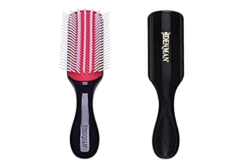 Denman Hair Brush for Curly Hair D3 (Black) 7 Row Classic Styling Brush for...