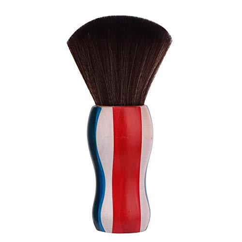 Brosse de balayage de cheveux cassés, brosse de plumeau de cou Brosse de coupe de cheveux Poignée en bois Fibre de cheveux Brosse de balayage de cou anti-statique(Broken Hair Brush)