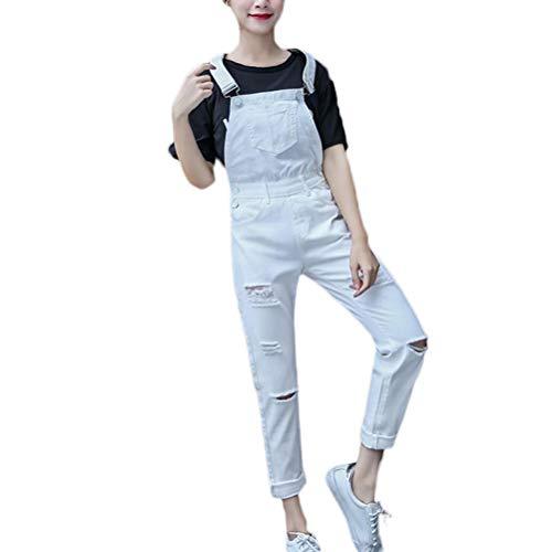 Crystallly broek dames mode elegante lente en zomer college stijl losse dragerbroek jeans met kleine voeten jumpsuit met Negen punten Koreaanse versie voor studenten.