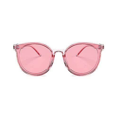 LeftSuper Lentes Planas espejadas Simples de Todo Partido Gafas de Sol de Mujer con Montura metálica de Moda callejera Gafas de Sol polarizadas