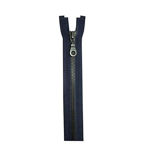 YKK 4296577 VYMJOR-56 DAMSL1 EM P14A HANGTAG N-ANTI NEWKOB4 kunststof rits - Metaluxe (deelbaar), draagband: polyester, marine (058), 70 cm