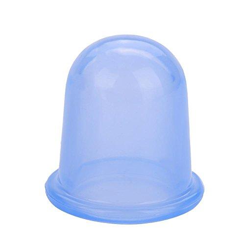 Tasse de thérapie sous vide, 2pcs/set Silicone Aide de massage du corps sous vide Tasses de massage anti-cellulite Ventouses(Bleu)