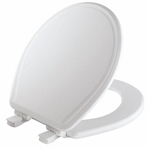 Mayfair 848SLOWB 000 Will Slow Close, Never Loosen and Easily Remove Toilet Seat, 1 Pack Round, White