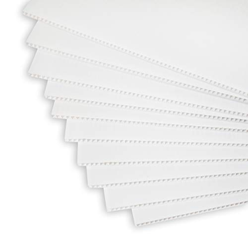 Corrugated Plastic Sheets | 17in x 13in | 10 Pack | Blank Coroplast Poster Board Signs for Offices, Classrooms, Yard and Garage Sales, Realtor Open Houses, and Custom Birthday, and Graduation Messages