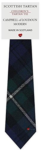 I Luv Ltd Garçon Tout Cravate en Laine Tissé et Fabriqué en Ecosse à Campbell of Loudoun Modern Tartan