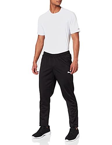 PUMA Liga Training Pant Core Pantalones, Hombre, Negro Negro Blanco, L