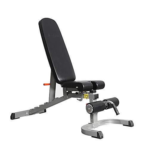 Verstelbare banken Halter, Multifunctionele halterbank met wielen voor thuis, Volledige lichaamstraining Sit-up Fitnessstoel Dragende 600 kg Professionele fitnessapparatuur