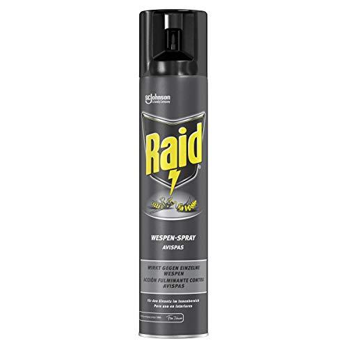 Raid (Paral) Wespen-Spray, zur Bekämpfung einzelner Wespen im Innenbereich, 1er Pack (1 x 300ml)