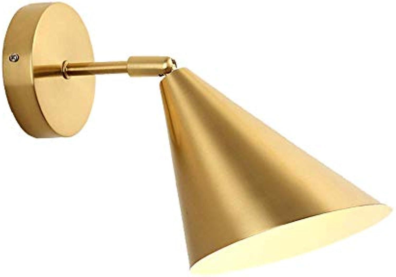 Wandleuchte Wand, Lampe Schlafzimmer Nachttischlampe Moderne Wand Single-Aisle-Korridor Hotel Golden Hintergrund Kreative Wandleuchte LED-Lampe