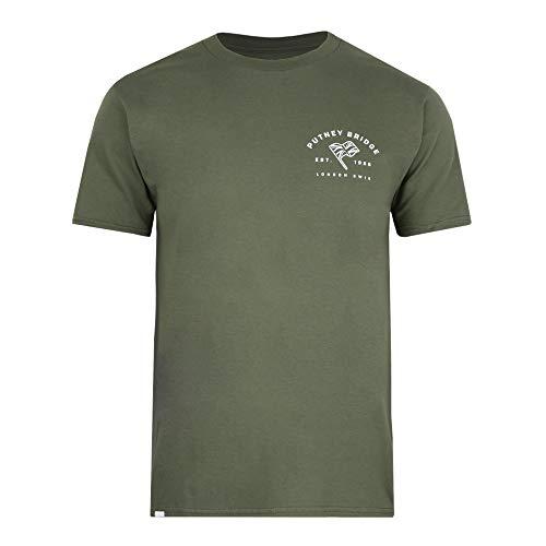 Putney Bridge DEPTFORD Camiseta, Verde (Military Green Military), L para Hombre