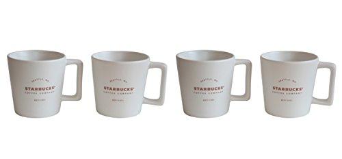 Starbucks Espresso Tasse Royal White 1971 Est Mug Espresso Set Demitasse (4)
