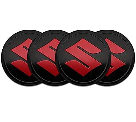 Tapacubos de 4 Piezas 56mm para Suzuki Grand Vitara SX4 Swift Jimny Kizashi Liana, La Tapas Centrales de Rueda de Alta Calidad Protegen el Buje de La Suciedad Accesorios de auto
