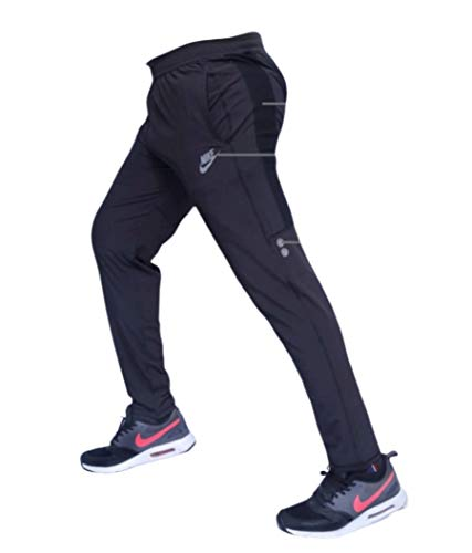 Men's Slim Fit Trackpants (sai-002_Navy Blue_Medium)
