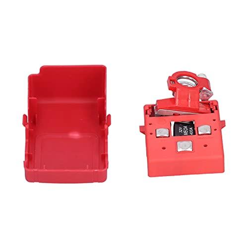 ROMACK Terminal de distribución de batería, Conector de batería de liberación rápida con Abrazadera de Terminal de batería 32V 400A para Coche 4WD Caravana