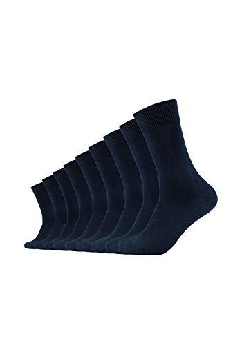 Camano Herren 3403 Ca-Cotton 9 Paar Socken, Blau (Navy 04), (Herstellergröße: 43/46) (9er Pack)