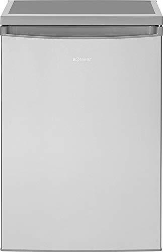 Bomann VS 2185 Kühlschrank / E / 84.5 cm / 90 kWh/Jahr /133 L Kühlteil / stufenlose Temperatureinstellung / inox