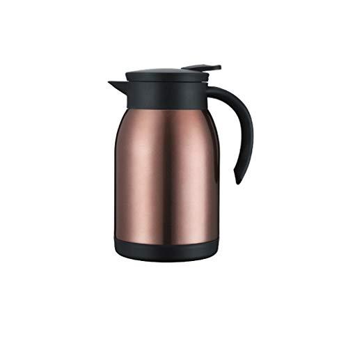 Karafka Termiczna na Gorące Napoje 80. 0ML. Gorący garnek do kawy/izolowane termos / 12 godzin izolacja/ 24 godziny chłodzenia Karafka Próżniowa (Color : Brown)