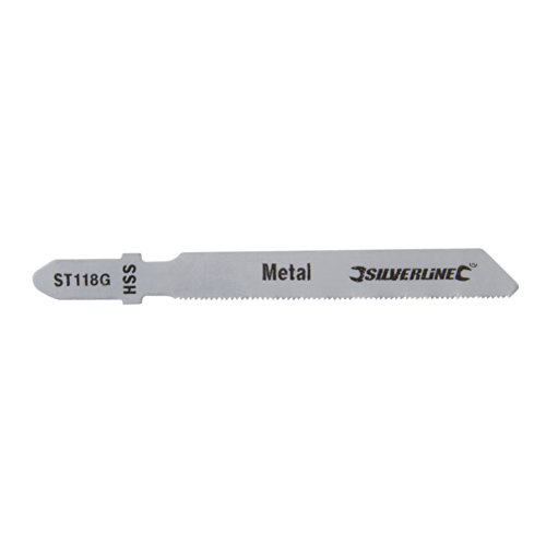 Silverline 234320 - Cuchillas de sierra de calar para metal, 5 pzas (ST118G)