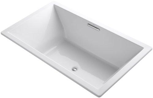 KOHLER 1137-0 Underscore Rectangle Bathtub, White