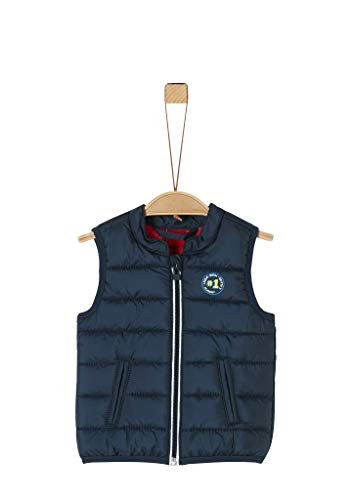 s.Oliver RED LABEL Unisex - Baby Wattierte Steppweste in Unicolor dark blue 86