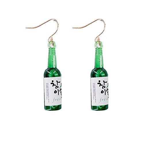 #N/V New Personality Korean Edition Simple Fashionable Pop Bottle Pendant Earrings Lady Ins Cute Temperament Simple Earrings