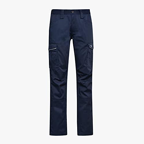 Diadora Utility Pantalone da lavoro STAFF STRETCH CARGO Twill - 63% Poliestere 34% Cotone, 3% Elastane (L, BLU)