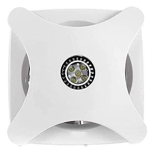YOUCHOU Ventilador Extractor de baño, Extractor de Cocina de 6 Pulgadas con iluminación Ventilador de baño/Cocina/Sala de Estar/Oficina Potente Silencio en casa